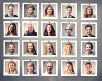 Lächelnde Leute Stockfoto