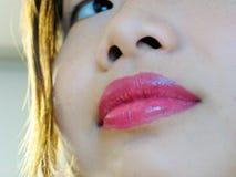 Lächelnde Lippen Stockfotografie