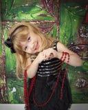 Lächelnde Mädchen-Feiertags-Bilder lizenzfreies stockfoto