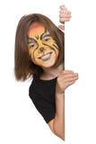 Lächelnde Mädchenfahne Lizenzfreie Stockbilder