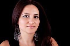 Lächelnde Mittleralter Frau lizenzfreie stockbilder