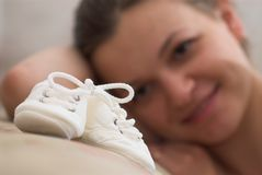 Lächelnde Mutter Stockfotografie