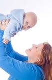 Lächelnde Mutter und Schätzchen Stockbild