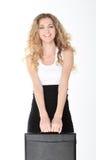 Lächelnde nette Geschäftsfrau Lizenzfreies Stockfoto