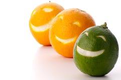 Lächelnde Orange und Kalk Lizenzfreie Stockfotografie