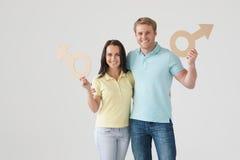 Lächelnde Paare Lizenzfreies Stockfoto
