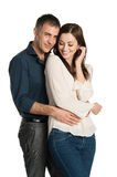 Lächelnde Paare in der Liebe Lizenzfreie Stockfotografie