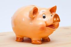 Lächelnde Piggy Querneigung Stockbild