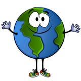 Lächelnde Planeten-Erde-Karikatur 2 Stockfotos