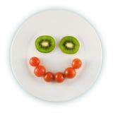 Lächelnde Platte Lizenzfreies Stockfoto