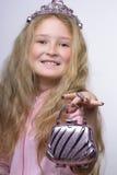 Lächelnde Prinzessin Lizenzfreies Stockbild