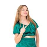 Lächelnde reizend junge Frau Lizenzfreie Stockfotos