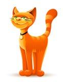 Lächelnde rote Katze Stockbild