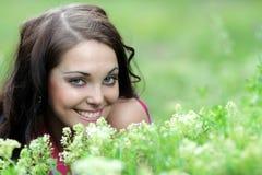 Lächelnde schöne Jugendliche Stockbild