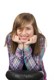 Lächelnde schöne Jugendliche Stockfoto