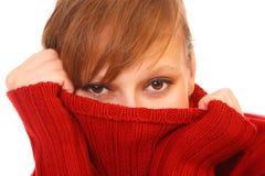 Lächelnde schöne junge Frau Lizenzfreie Stockbilder