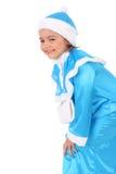 Lächelnde Schnee-Maid Lizenzfreie Stockfotos