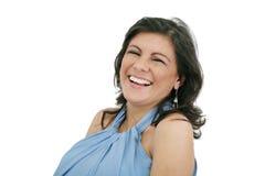 Lächelnde schwangere Frau Stockfotos