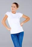 Lächelnde sexy junge Frau Lizenzfreies Stockfoto