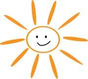 Lächelnde Sommersonne lizenzfreie abbildung