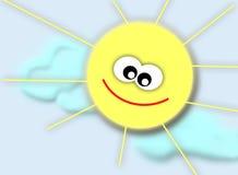 Lächelnde Sonne Stockfotografie