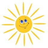 Lächelnde Sonne Stockbilder