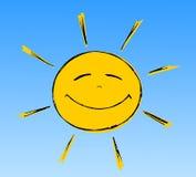 Lächelnde Sonne Lizenzfreie Stockfotos