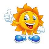 Lächelnde Sonnekarikatur Lizenzfreie Stockfotografie