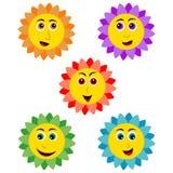 Lächelnde Sonnenblume Stockbilder