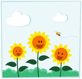 Lächelnde Sonnenblume Stockfotografie