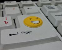 Lächelnde Tastatur Stockfotografie