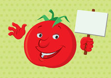 Lächelnde Tomate Stockfoto