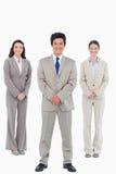 Lächelnde tradesteam Stellung Lizenzfreies Stockbild