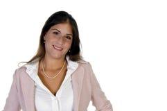 Lächelnde Unternehmensdame Stockfotografie