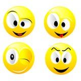 Lächelnde vektorkugeln Lizenzfreies Stockbild