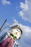 Lächelnde Vogelscheuche Stockfoto