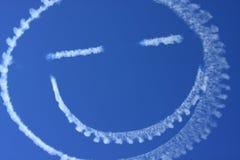 Lächelnde Wolken im Himmel Stockfotos