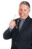 Lächelnder älterer Geschäftsmann lizenzfreie stockfotografie