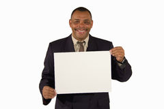 Lächelnder älterer Geschäftsmann, der einen Vorstand darstellt lizenzfreie stockfotografie