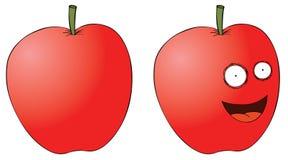 Lächelnder Apfel Stockfoto