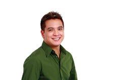 Lächelnder asiatischer Mann Stockfoto