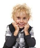 Lächelnder blonder Junge Stockbild