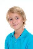 Lächelnder blonder Junge Stockfotos