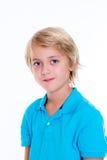Lächelnder blonder Junge Lizenzfreies Stockfoto
