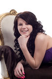 Lächelnder Brunette Lizenzfreie Stockfotos