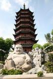 Lächelnder Buddha in Suzhou Stockbild