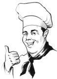 Lächelnder Chef stock abbildung
