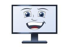 Lächelnder Computer Lizenzfreies Stockfoto