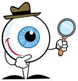 Lächelnder Detektivaugapfel Lizenzfreie Stockfotos