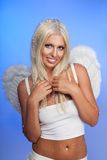 Lächelnder Engel Stockbilder